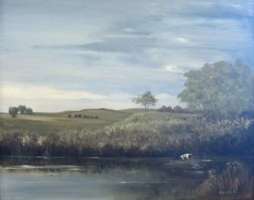"""""""Beside Restful Waters"""", 24x30 Oil"""